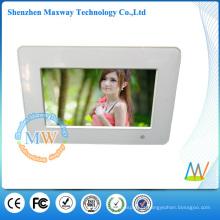 porta-retrato digital 7 polegadas com funções de reprodução de imagens de vídeo de música MP3