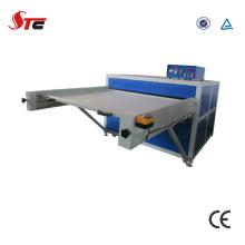 Große Formate Hydraulische Doppelstation Wärmeübertragung Pressmaschine