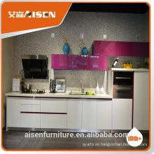 Hangzhou fatory bajo precio al por mayor modernos gabinetes de cocina (MDF, MFC, paquete plano)