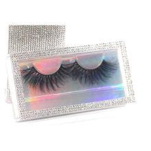 SL027F Hitomi 100% Real Mink Eyelashes eyelashes box packing custom private label Fluffy real 25mm mink eyelashes