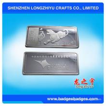 Moneda plateada plata al por mayor del metal para la colección