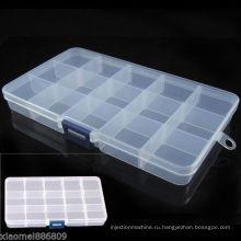 Пластиковый 15 слотов регулируемый ящик для инструментов форма корпуса