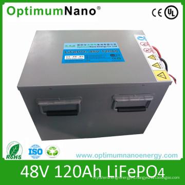 Литиево-ионная батарея 48V 120ah для хранения энергии