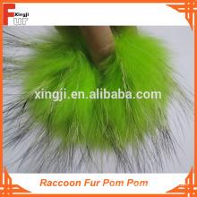 Pom Pom Pom de piel de mapache de calidad superior