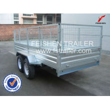 Hot sale!! hot dipped galvanized cage trailer 8x5