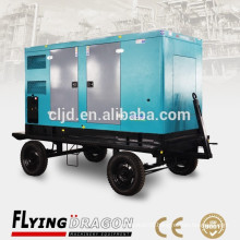 small power 200kw electric generator portable silent with four wheels trailer for sale