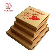 China custom printed disposable corrugated food pizza box