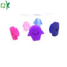Makanan Grade Cute Silicone Glass Marker for Party