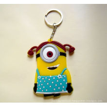 Promotional Product Customize Rubber Silicon Cartoon Plastic Keychain