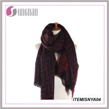 2015winter New Custom Cheap Cashmere Scarf Knit Tartan Scarf Thick Cashmere Scarf
