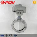 EPDM PTFE Joint DN50 DN100 motorisé électrique en acier au carbone vanne papillon
