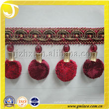 Made in China Decorative Curtain fringe trim Tassel for home and Textile Decor