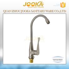 Water save nickel brushed deck mounted kitchen sink faucet