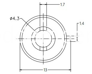 Barrel Damper Drawing of DY12C