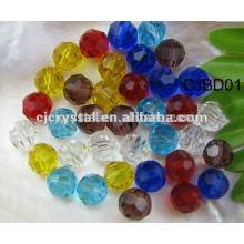 8mm Mischfarben Glasperlen, runde Perlen