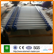Powder coated galvanized spear top cheap square steel tube fence