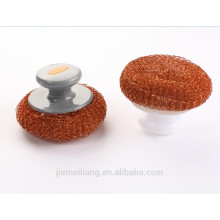 Kitchen Cleaning Using Copper Coated Wire Ball Metal Mesh Scrubber
