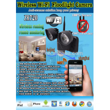 2015 new products flash led light security camera system with wifi achieving real-time monitoring