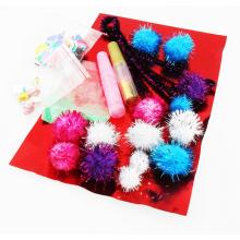 regalo y artesanía, fiesta celebración glitter pompom, Fun poms