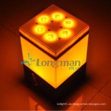 9PCS 14W Rgbawuv kleine drahtlose LED-Lichter mit Batterie