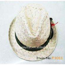 Paper raffia fedora hat