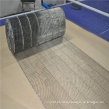 Stainless steel wire mesh ladder conveyor belt for bread transfer