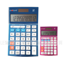 Calculatrice de bureau Dual Power de 12 chiffres avec fonction fiscale facultative (LC22639)