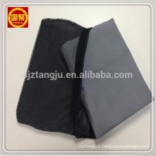 Serviette de plage en microfibre gris clair en daim avec sac en filet