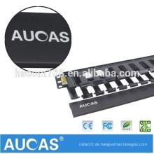 Aucas Hochwertige 12 Ringe Netzwerkkabel Management Lan Patch Panel 1U Kabelmanagement