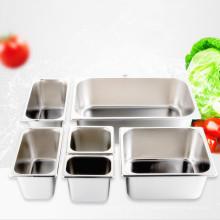 Поднос для сервировки из нержавеющей стали для отелей в полном размере Американский стиль Глубокий пищевой контейнер Gastronorm GN Pan