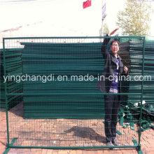 Niedriger Preis benutzter überzogener Zaun PVCs überzogener Kanada im Freien temporärer