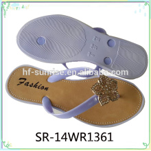 New Design Pvc Airblowing Chinelo Em 2015