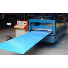 Máquina perfiladora de tejas esmaltadas de hoja de acero galvanizado para techos