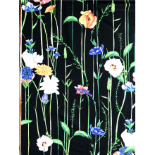 Fashion Paper Printing Poliester DTY Single Jersey Fabric