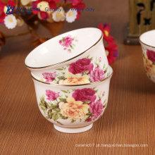 Chinês tradicional estilo pote chá de porcelana / xícara de café pires