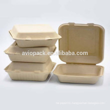 Biodegradable paper pulp disposable takeaway lunch box