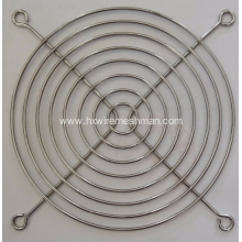 Metal grill fan finger guard