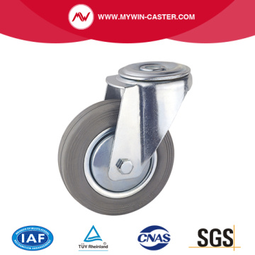 Grey Rubber Bolt Hole Industrial Caster