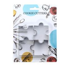 juego de cortador de galletas de galletas de acero inoxidable
