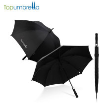 quality Chinese product promotional long shaft golf umbrella , golf umbrella windproof