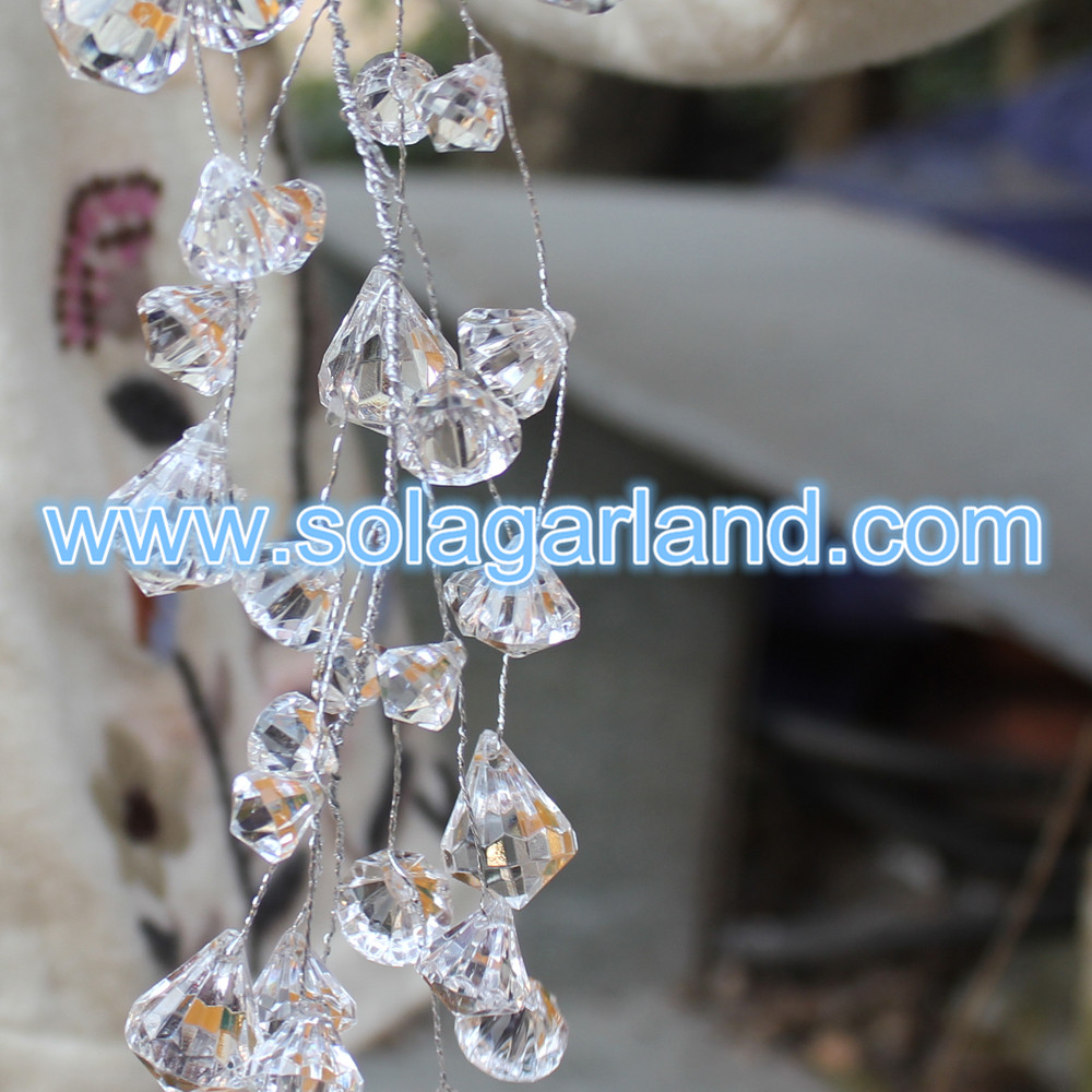 Crystal Beaded Garland Branch