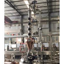 """Casque de distillation 3 """"4"""" 6 """"8"""" en cuivre contenant de l'alcool pour la vodka au whisky"""
