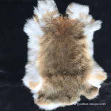 Wholesale price genuine real tanned natural color raw rabbit skin pelt