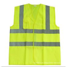 Hoch sichtbare Arbeitskleidung Reflektierende Sicherheitsweste