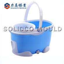 Mop balde de rotação com moldagem por injeção de rodas