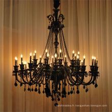 Lustre en cristal noir pour éclairage de cuisine85543