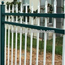 Galvanized decorative palisade fence/garden palisade fence