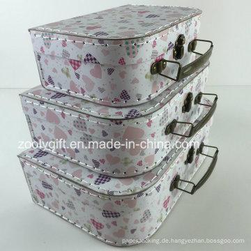 Custom Stitching Papier Karton Geschenk Box Koffer Speicher Verpackung Boxen