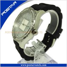 Relógio suíço de aço inoxidável unisex com mostrador mop