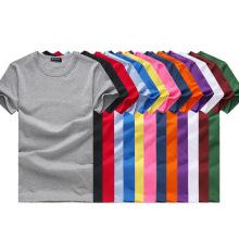 Atacado 2017 Homens Plain T-Shirts Algodão Em Torno Do Pescoço T-Shirts Baratos